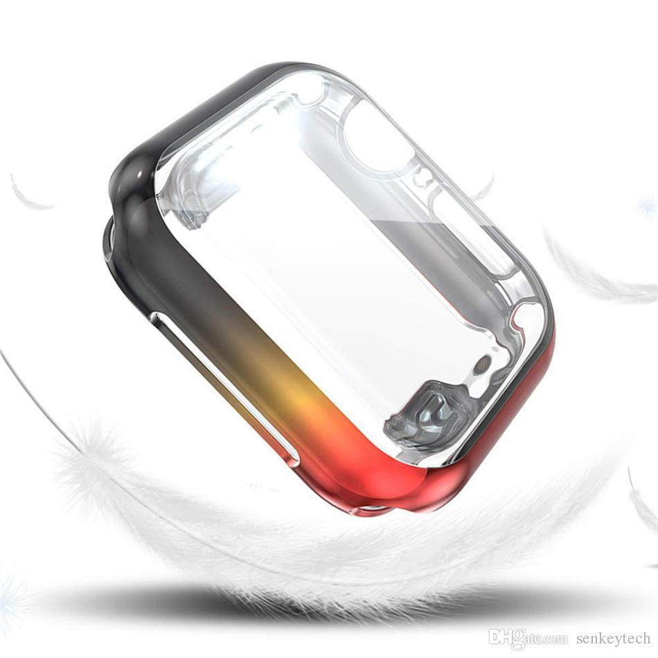 Cover Case For Apple Watch band 44mm/40mm apple watch 5 4 3 band 42mm/38mm iwatch screen protector TPU protective bumper