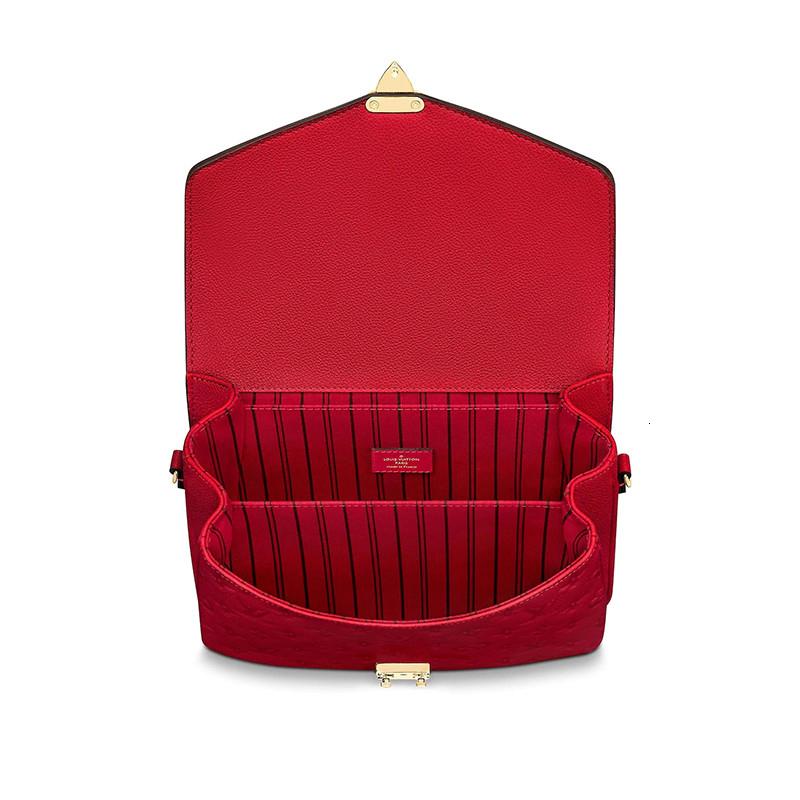 /  POCHETTE METIS red leather messenger bag ladies shoulder bag M44155