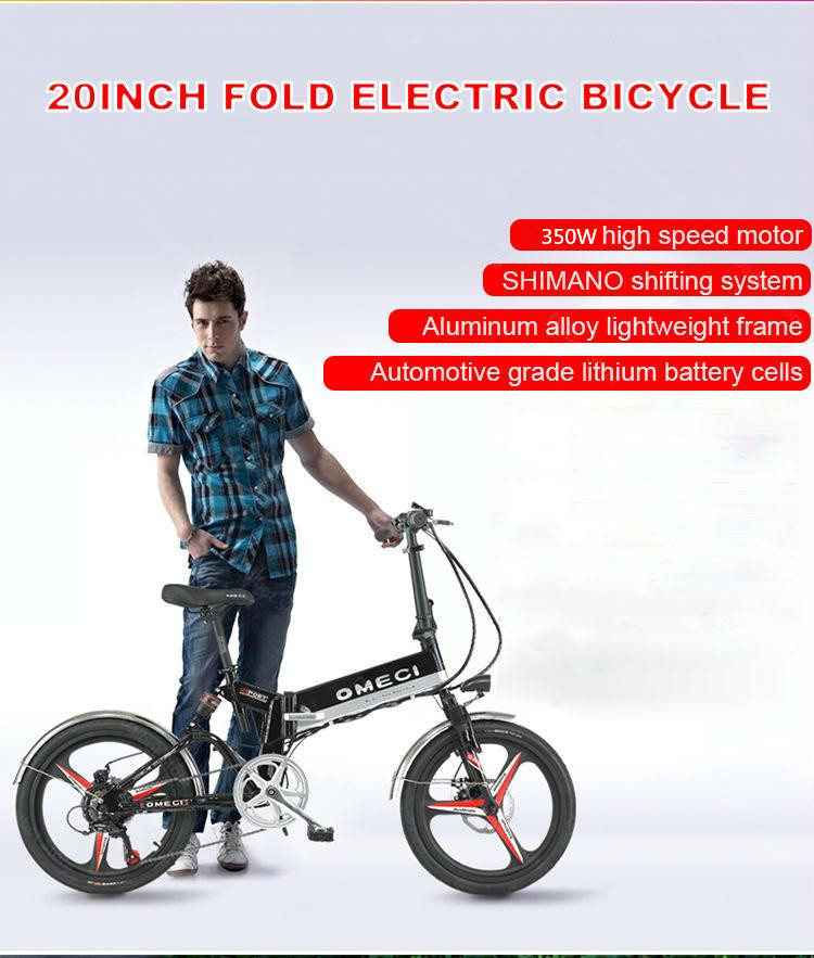 20 Inch Folding Electric Bicycle 2 Wheels Electric Bicycles Spoke Wheel Mini Lightweight Electric Bikes Adults 350W 48V 35KMH (1)