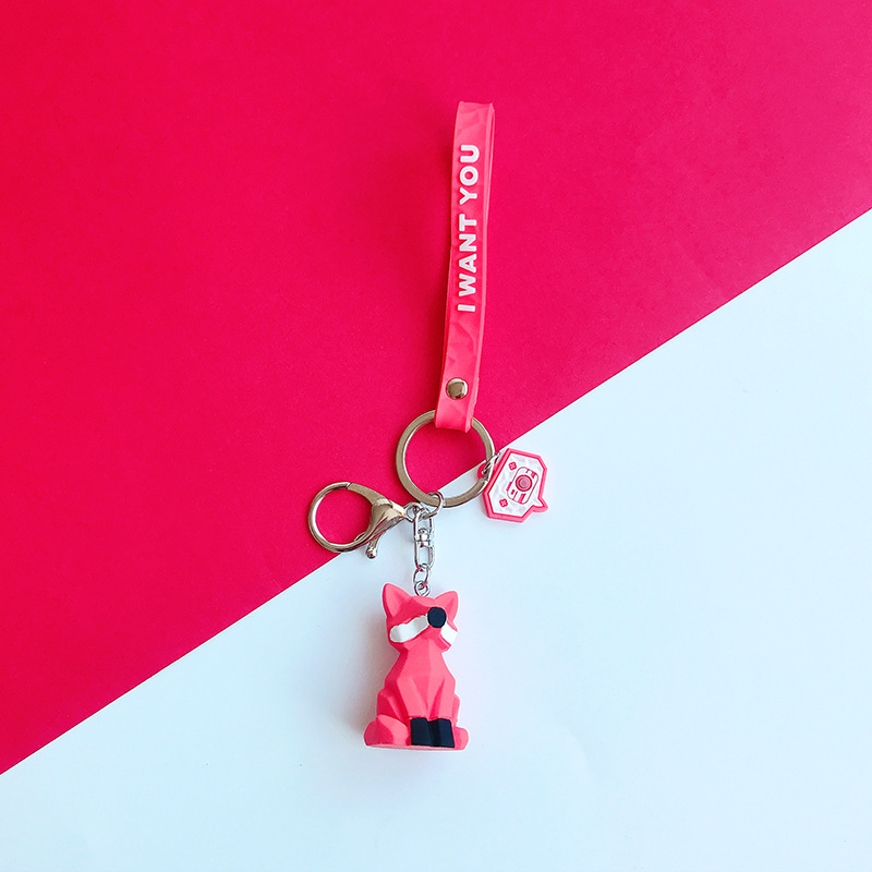 2019 New Fashion Cute Dinosaur Keychain Key Ring Fashion Cartoon PU Key Chain Creative Car Bag Phone Key Ring (19)
