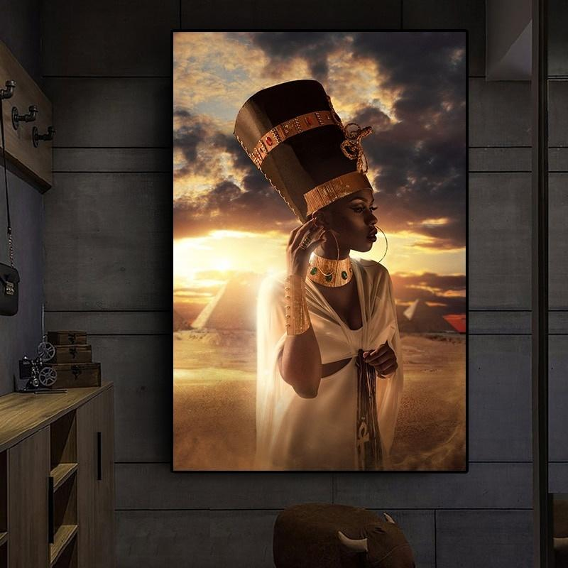 Wall Pictures Africa Woman Fleece Canvas Picture-XXL Images Art Print 002414p