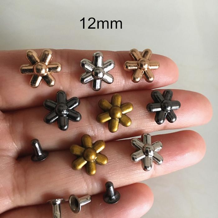 8//10//12mm Medio Redondo Perlas Remaches Tachuelas botones para Leathercraft ropa 100 un.