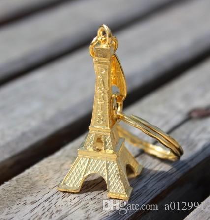 couple lovers key ring advertising gift keychain Alloy Retro Eiffel Tower key chain tower French france souvenir paris keyring keyfob cut