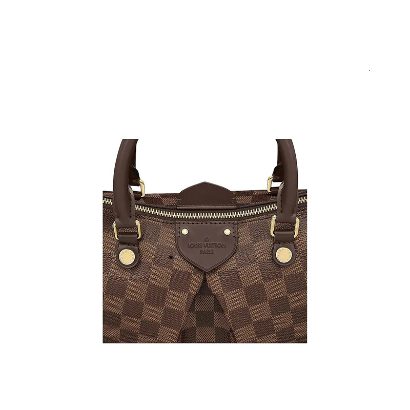 / SIENA Medium brown plaid with shoulder strap ladies shoulder bag N41546