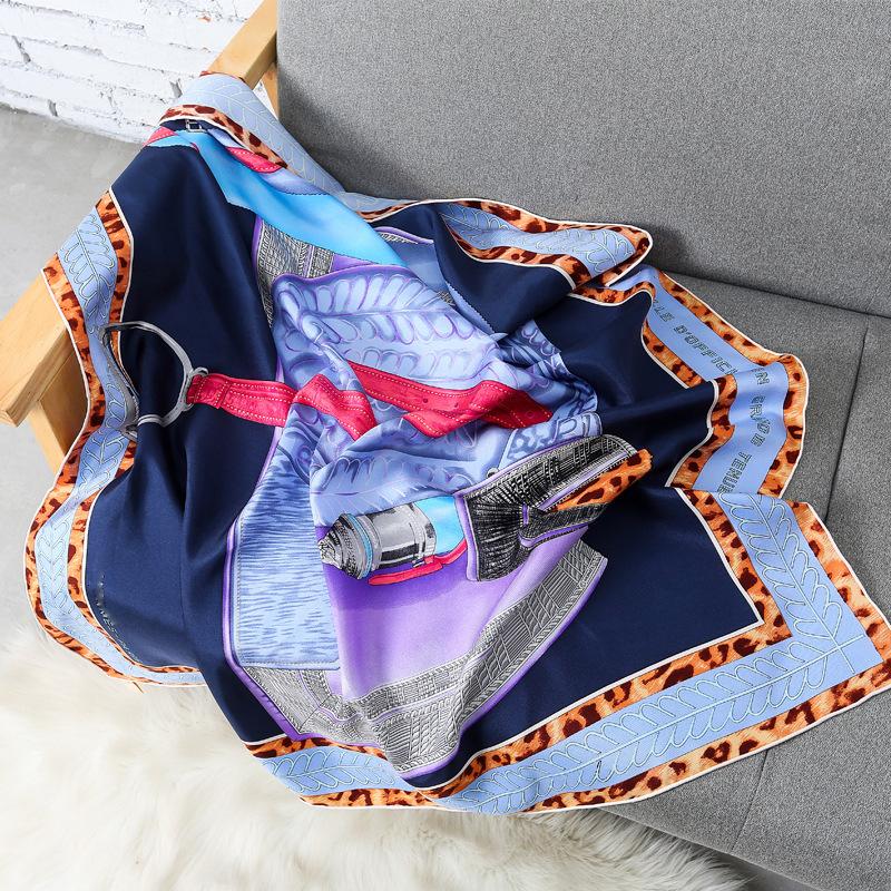 100-Twill-Silk-Blue-Scarf-Women-Hijab-Fashion-Leopard-Saddle-Print-Shawls-Luxury-Brand-Scarves-16mm