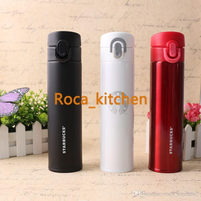 New Creative Starbucks double stainless steel vacuum insulation Cup, gift cup of coffee cup car portable cup