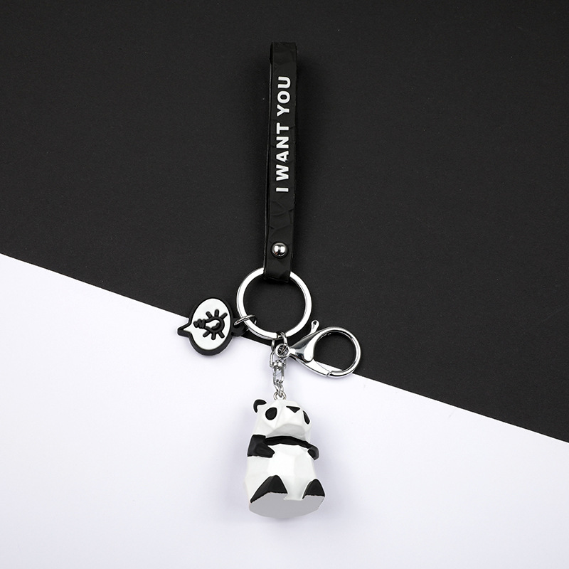 2019 New Fashion Cute Dinosaur Keychain Key Ring Fashion Cartoon PU Key Chain Creative Car Bag Phone Key Ring (6)