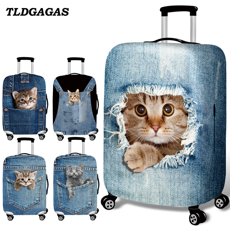 Travel Luggage Cover Abstract Art Camera Green Suitcase Protector Fits 18-20 Inch Washable Baggage Covers