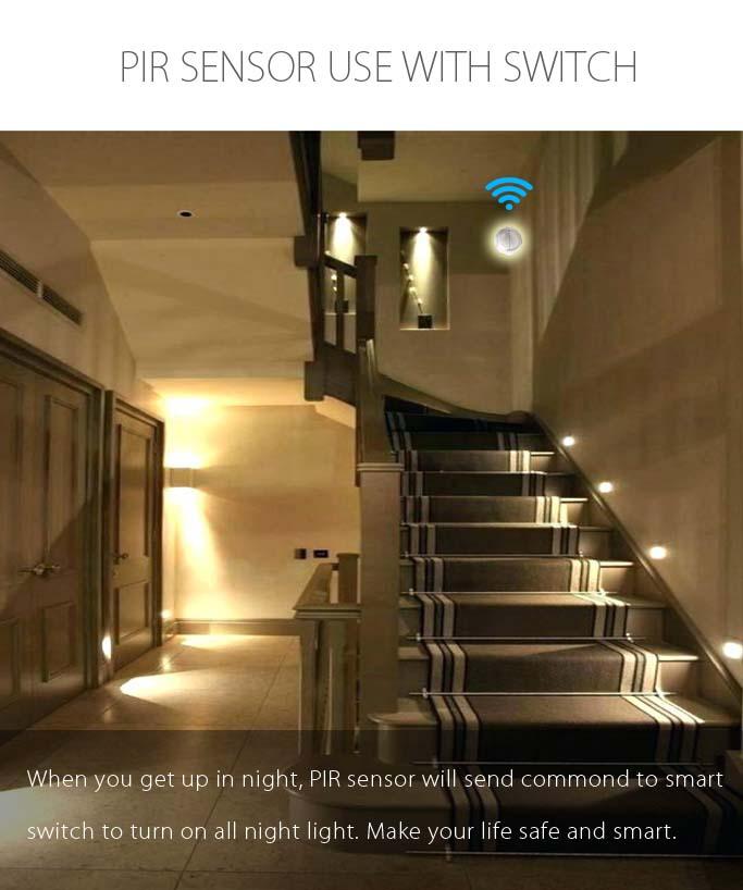 Wireless Indoor Home Security System PIR Sensor/ TUYA smart home motion sensor