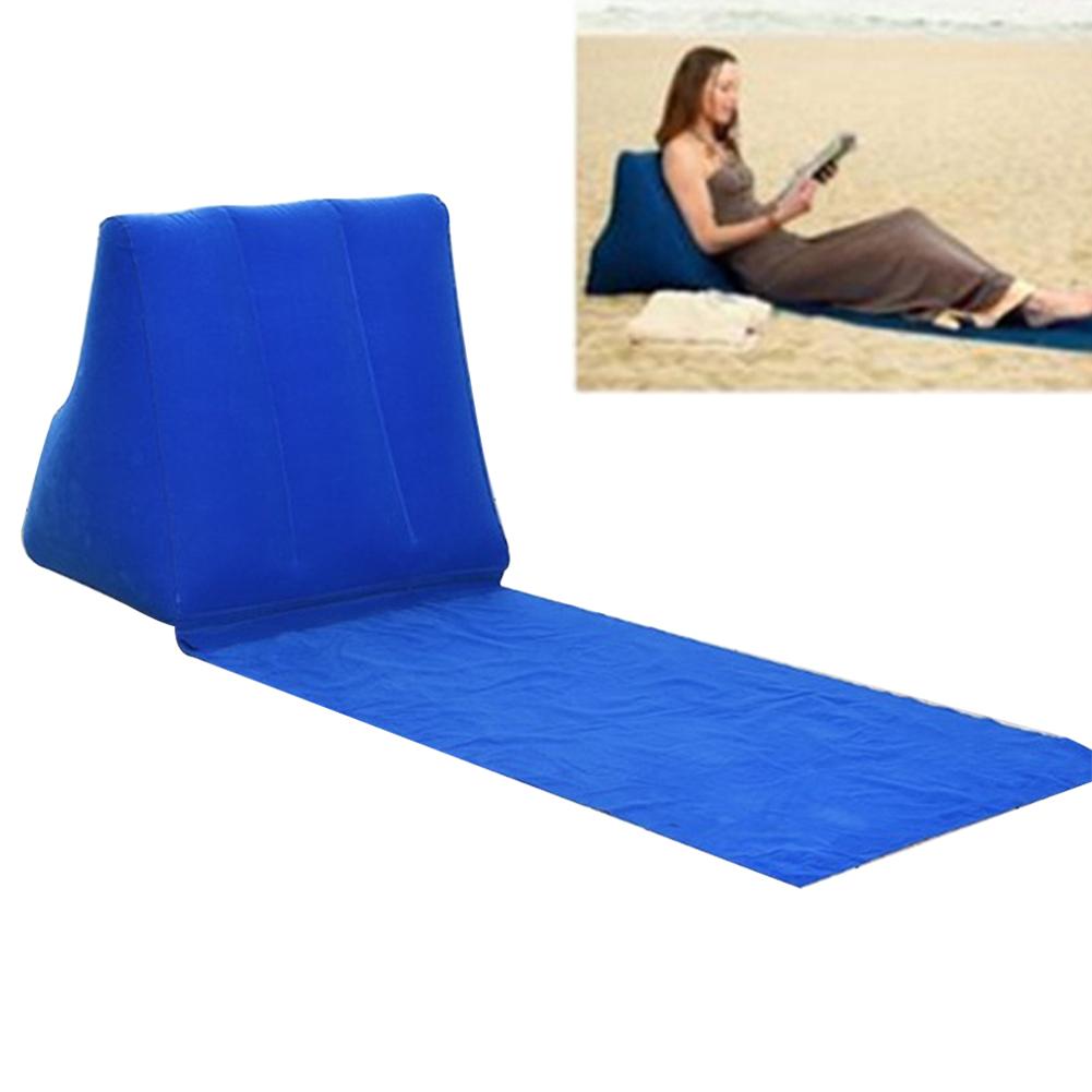 Cama avi/ón Azul Oscuro Dormir reposacabezas Wildlead Playa coj/ín de Aire para Acampada al Aire Libre Coche Almohada Inflable port/átil de PVC Viaje
