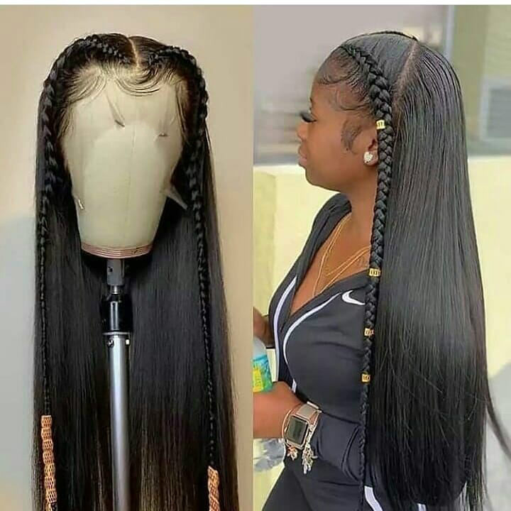 13X6 Glueless Straight Lace Front Human Hair Wigs Straight Lace Front Wig Remy 180 Density Lace Front Wig