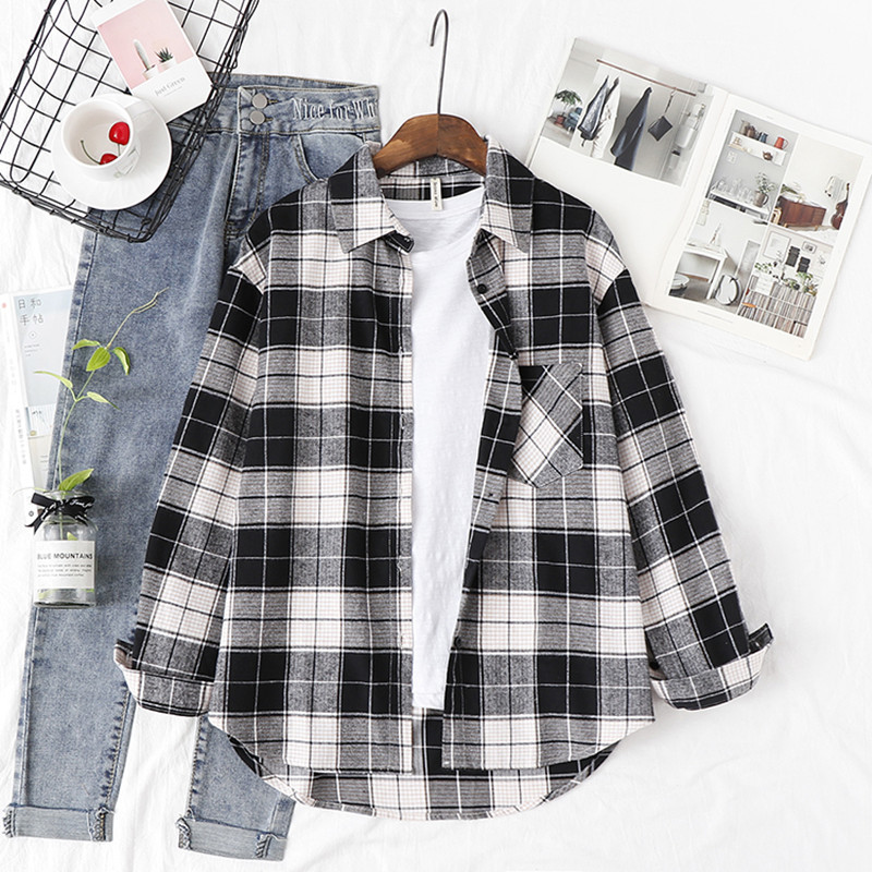 Plaid-Shirt-Oversize-Women-Fashion-Women-Blouse-Long-Sleeve-Print-Shirt-Loose-Cotton-Top-Plaid-Shirt (2)