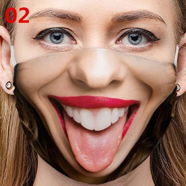 designer face mask Black mask personality facial expressions funny foreign trade masks cross-border dustproof cotton masks printed reusable