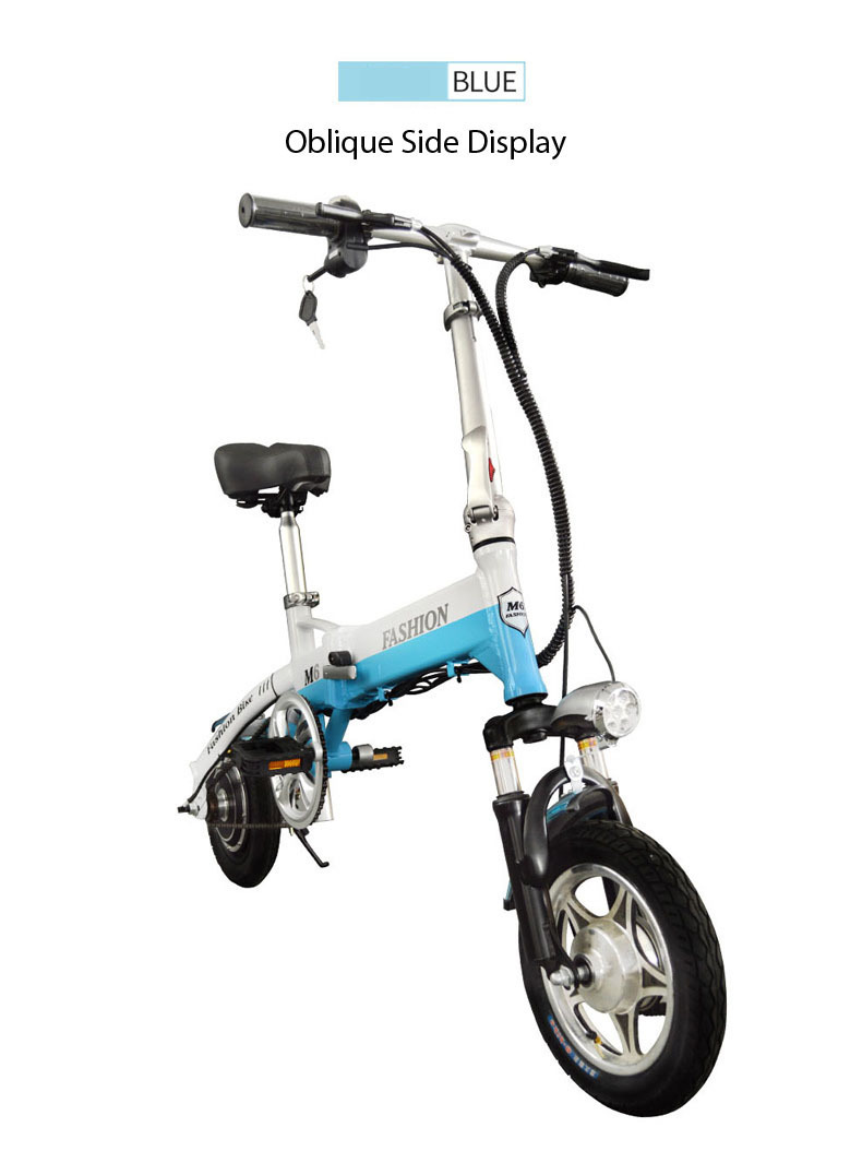 New Electric Bike 36V Two Wheels Electric Bicycle FrontRear Brake System WhiteBlueBlack Adult Folding Electric Scooter (4)
