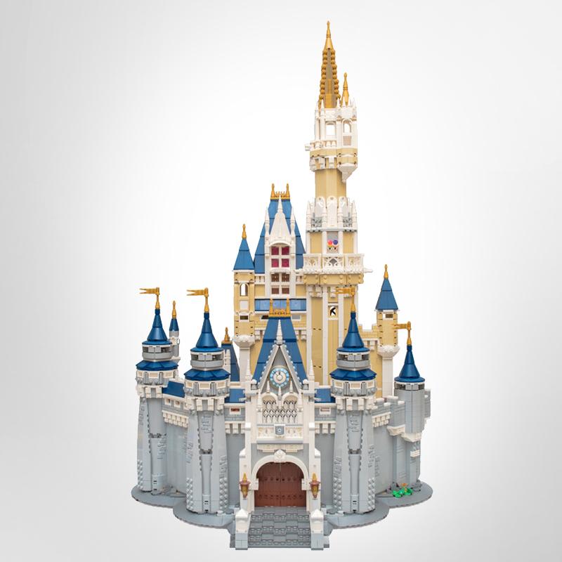 EU US In Stock 16008 Movie Creator The Princess Castle 4080Pcs Street View Model Building Kits 71040 Blocks Bricks Education Toys