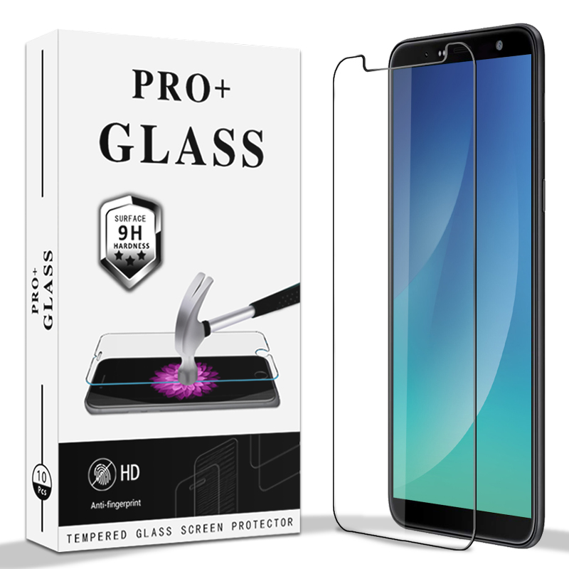 No Retail Package DONG 50PCS 0.26mm 9H 2.5D Tempered Glass Film for Galaxy J4+