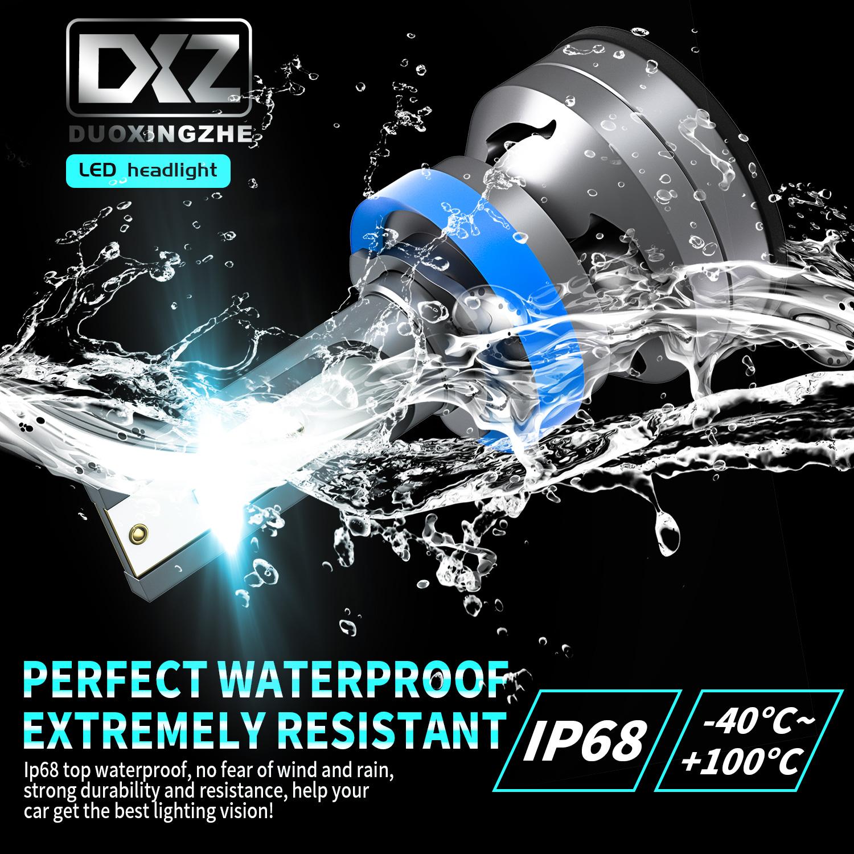 DXZ Car LED Headlight Bulbs H7 Low Beam Pure White Bright Fog Light Conversion Kit 60W 12000Lm 2 Pack