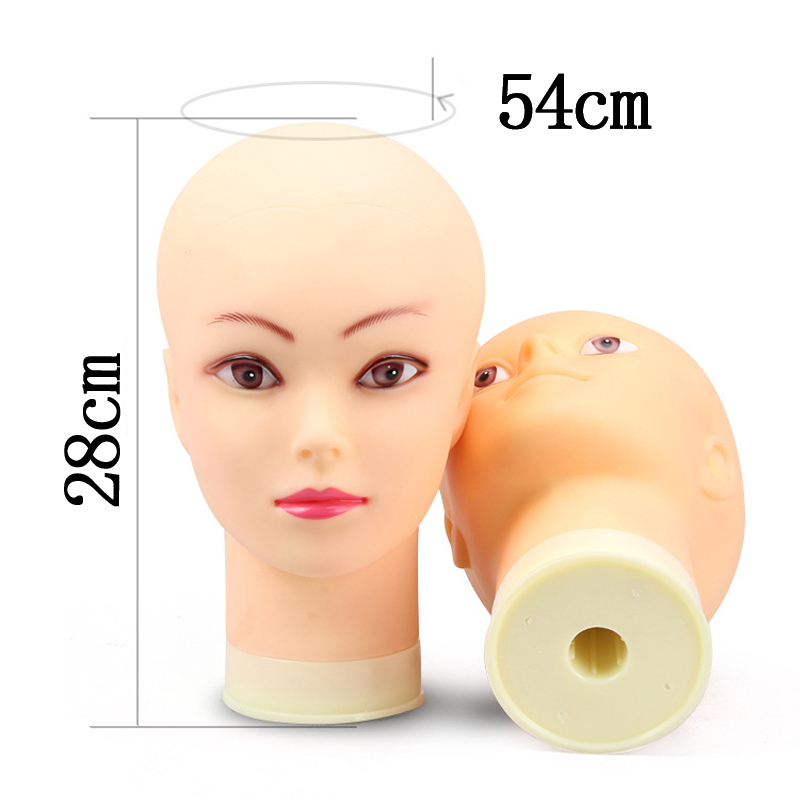 Top Selling Female Mannequin Head Without Hair For Making Wig Stand and Hat Display Cosmetology Manikin Training Head T-pins CX200716