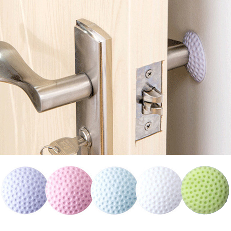 Guoguocy Door Stops Door Stop,Silicone Door Suction,Rubber Door Touch Door Top Handle Anti-Collision Pad, Green Color : C Tower Type