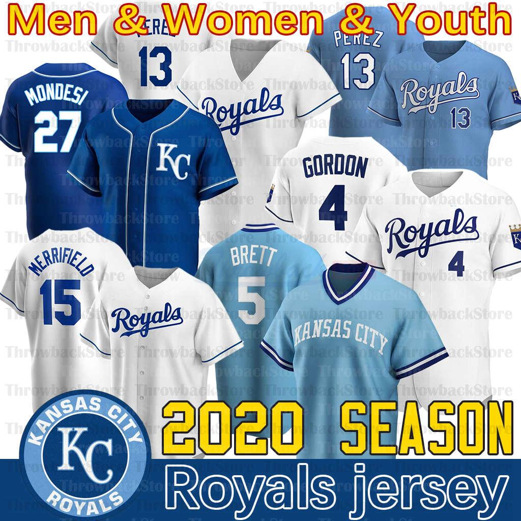 Kansas City Whit Merrifield Jersey Bo Jackson Jorge Soler Hunter Dozier Bubba Starling Alex Gordon Ryan O'Hearn 2020 New Season Jerseys