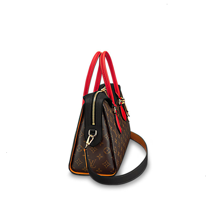/  new ladies black shoulder bag, portable dual-use, canvas / with leather M41454