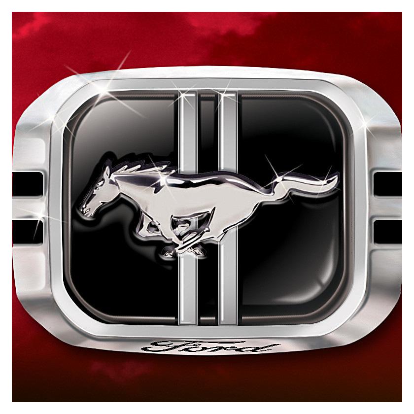Ford Mustang Caballo Salvaje 925 Sterling Silver Anillo para hombre