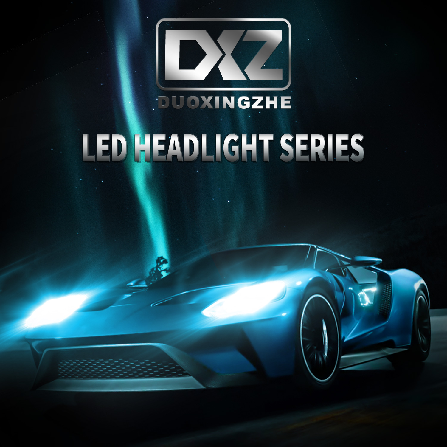 DXZ 2pcs H3 60W 12000LM 6000K D1 LED Car Headlight Kit Automobile Fog Lamp Hi or Lo Light Bulbs