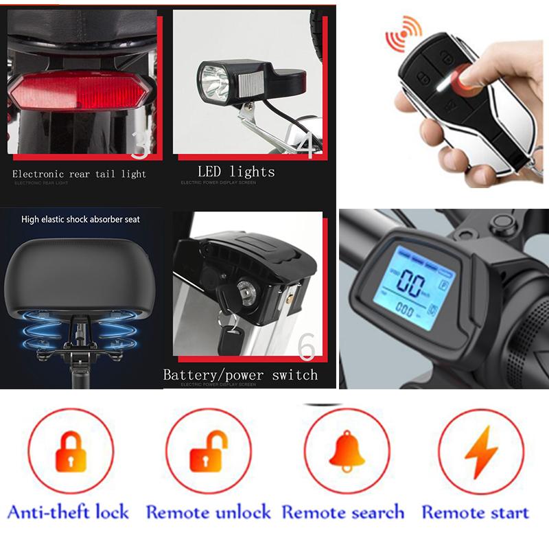 Smart-Folding-Electric-Bike-14inch-Mini-Electric-Bicycle-48V30A-32A-LG-Lithium-Battery-city-EBike-350W