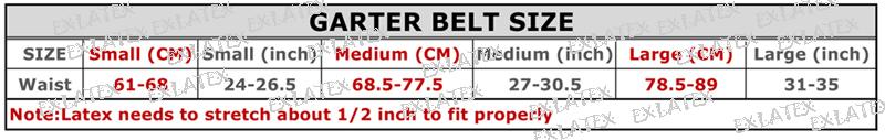 Latex Garter Women Harness bdsm Bondage Black Latex Rubber Garter Suspender Belt with Clips Belt for Stockings (1)-3