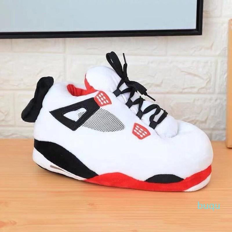 Hot Sale- Unisex Big Size 35-43 Snug Sneakers Women House Floor Slippers Women/Men Winter Warm Home Slippers Ladies Slides One Size Shoes
