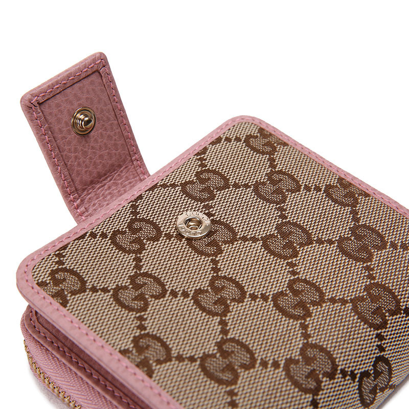 /  ladies double G canvas short wallet 346056 KY9LG 8609