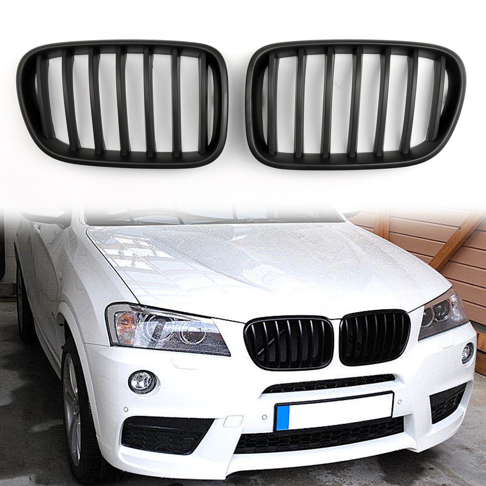 BMW X3 F25 11-17 Rear Reflector Light Lamp Set Pair M Sport Bumper Only