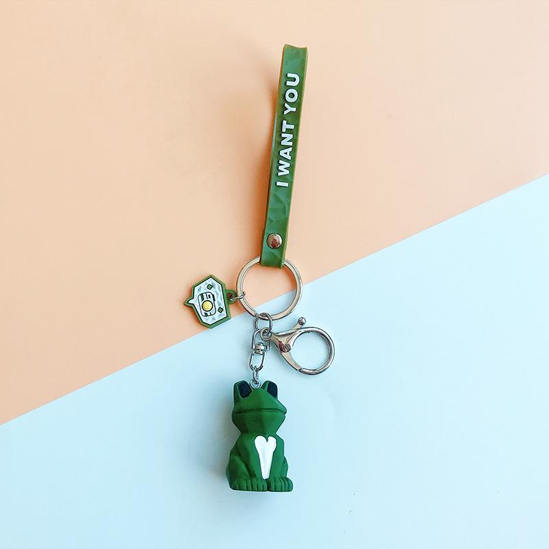 2019 New Fashion Cute Dinosaur Keychain Key Ring Fashion Cartoon PU Key Chain Creative Car Bag Phone Key Ring (21)