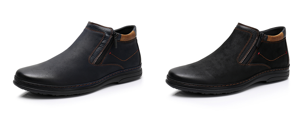 KULADA New Men Shoes Cow Suede High