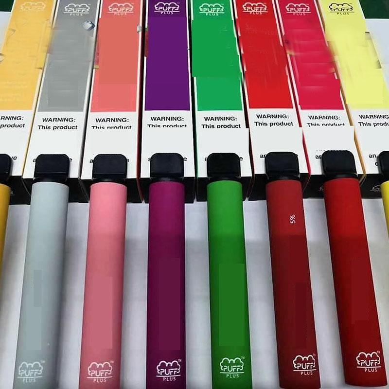 Puff Plus Disposable Vape Pens Oil Vaporizer Pod Starter Kit Instock 1.3ML Cartridge Packaging 280mAh Battery Puff Bar E-Cig Pen