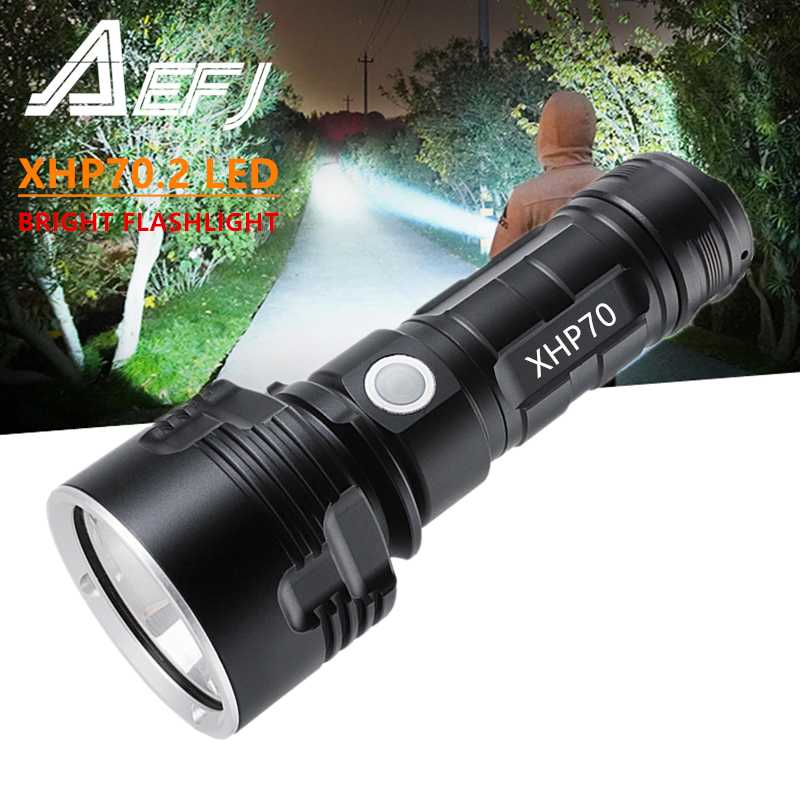 BMOT Extremely Bright LED Flashlight USB Rechargeable Waterproof Flashlight with 4 Modes for Outdoor Camping Emergency