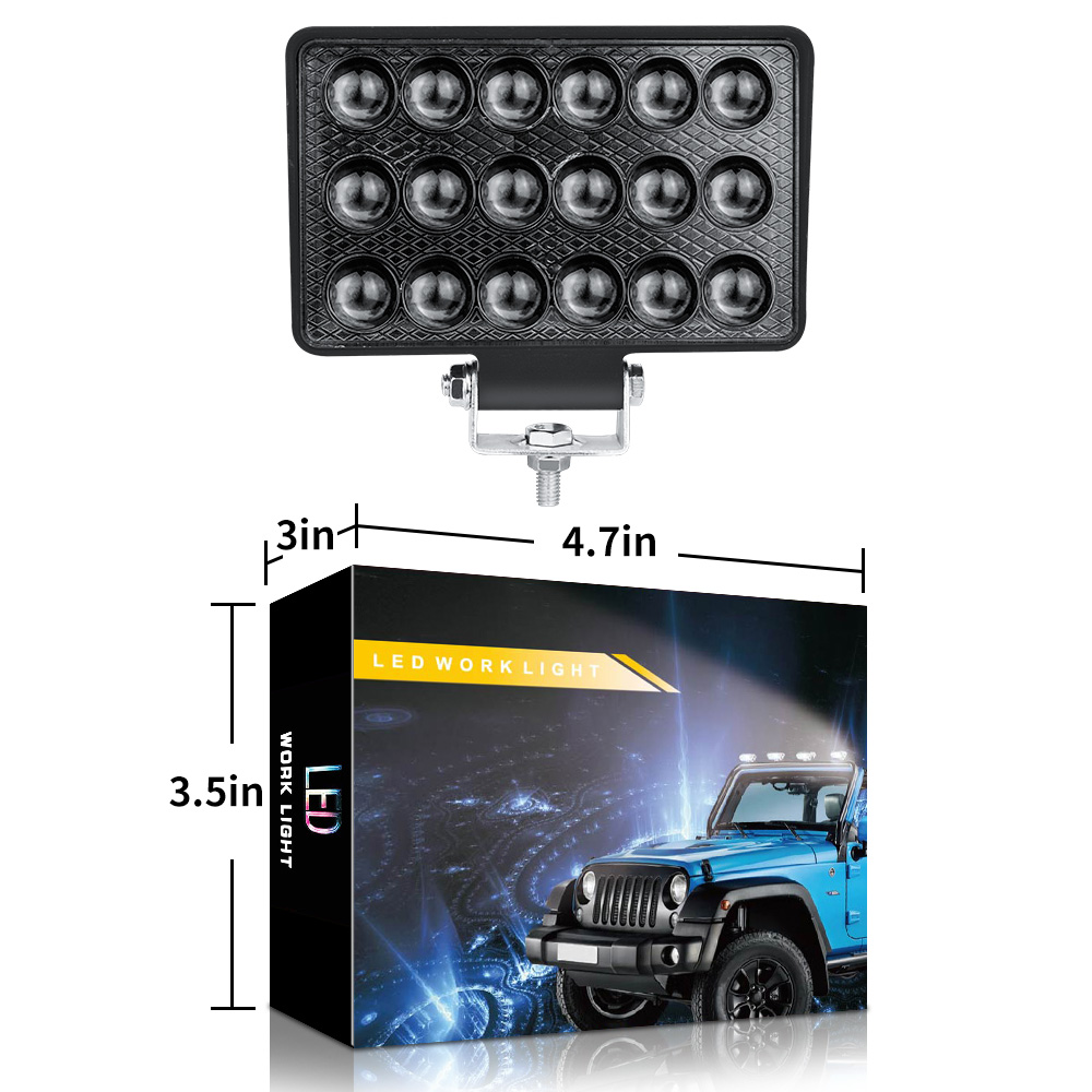 DXZ Car LED Work Light 5 Inch 18 Beads 54W Retrofit Spotlight for Automobile / Motorcycle / Off-road Vehicle / Truck /