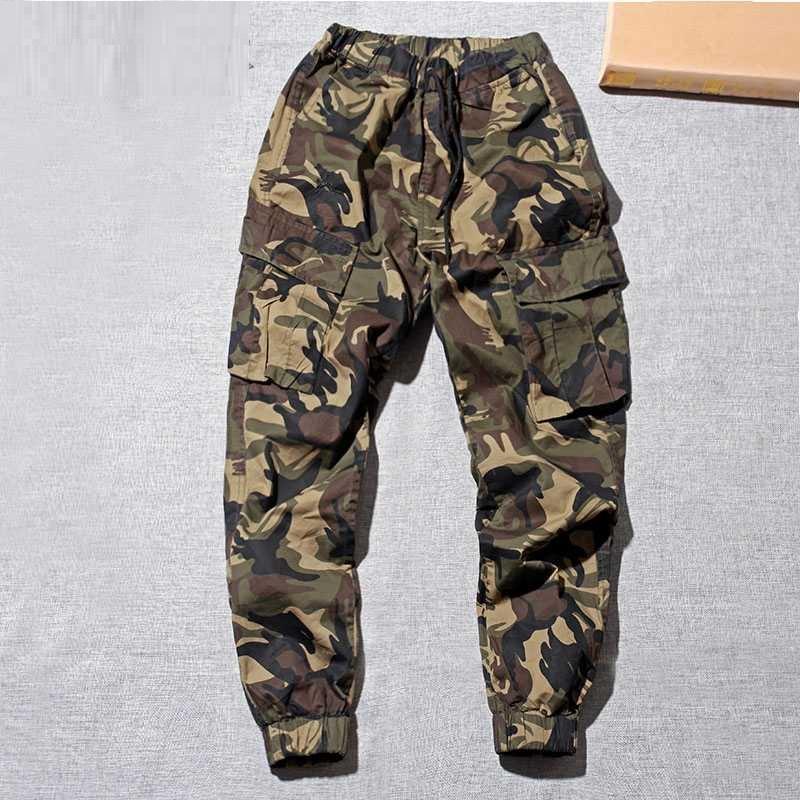 Huateng Pantalones Cargo De Camuflaje Para Hombres Bolsillos Multiples Zipper Decoracion Slim Jeans Estrechos Pies Pantalones Ropa
