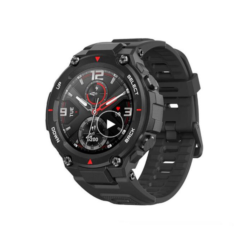 Global Black Amazfit CES T-rex Smartwatch Control Music 5ATM Smart Watch GPS/GLONASS 20 Days Battery Life MIL-STD Smartwatches for Android