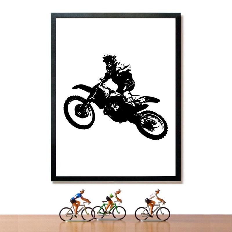 Motocross Rider Poster Home Decor