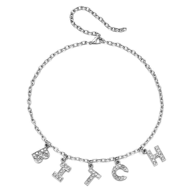 bitch letter necklace
