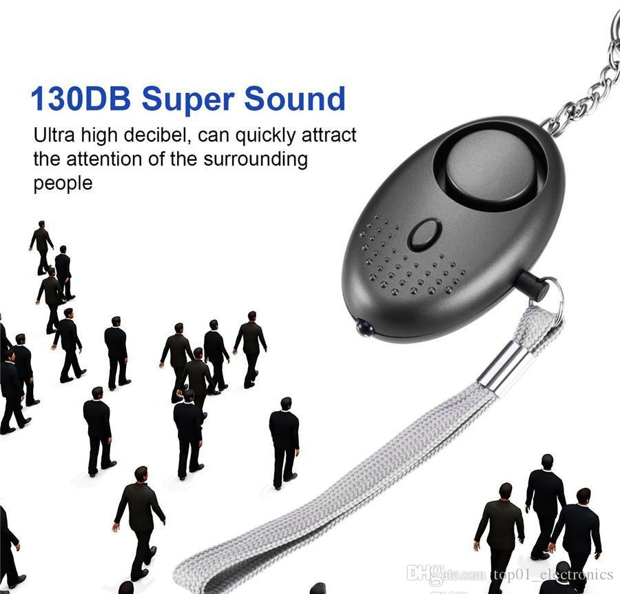 130db sound Loud Egg Shape Self Defense personal Alarm Girl Women Security Protect Alert Personal Safety Scream Keychain Alarm