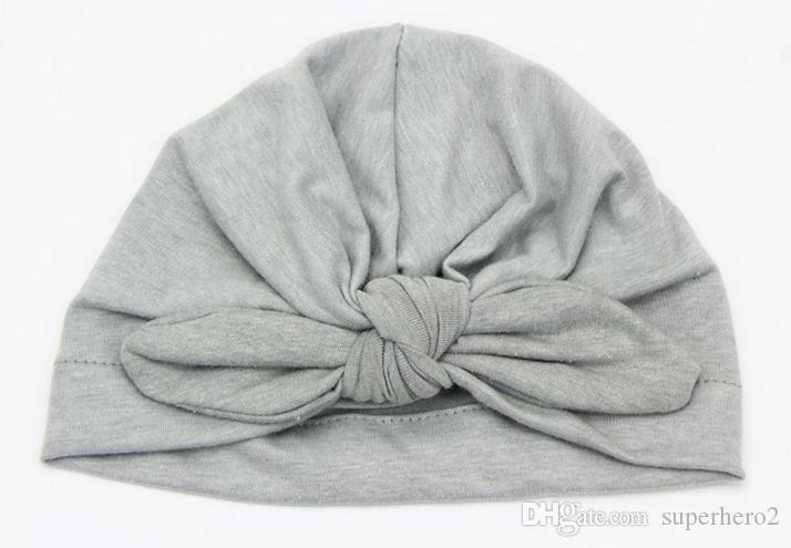 Baby children winter fall cap fashion knotted rabbit ear soft cotton hats boy girl beanies Indian muslim bohemia caps colorful drop dropping