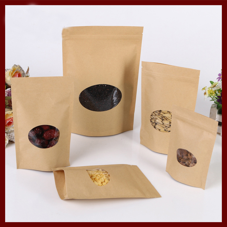 1000 x High Quality Brown Kraft Paper Bags Fruits Sweets Packing Gifts All sizes