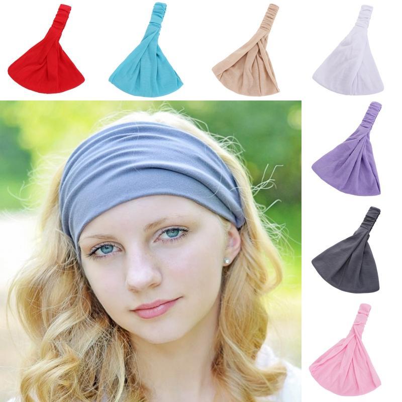 Damen Mädchen Haarband Stirnband Kopfschmuck·Yoga Schweißband Breit-Wide