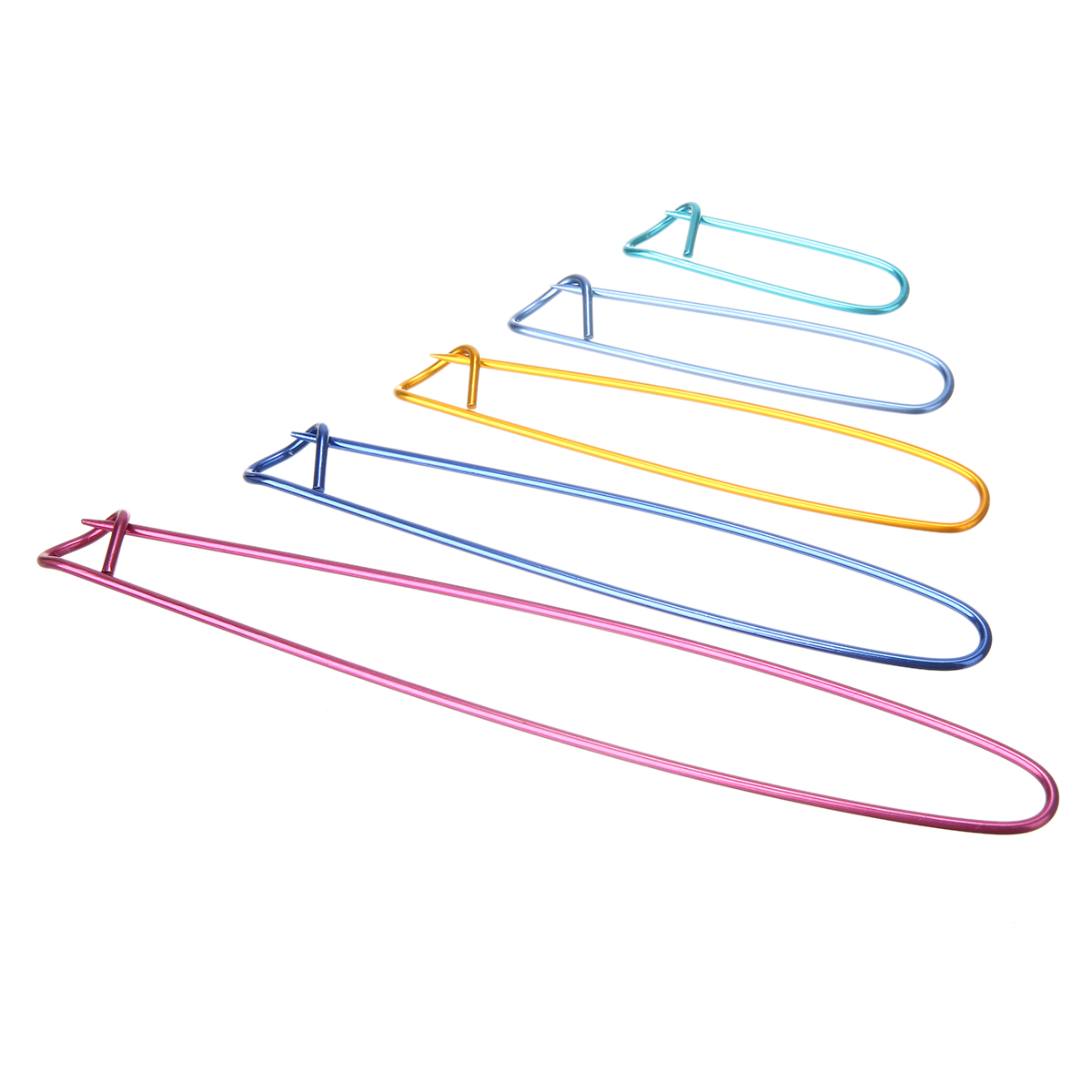 10Pcs Aluminum Knit Holders Knitting Needles Markers Crochet Hook Locking Stitch Seam DIY Crafts Sewing Tool for Making Sweater