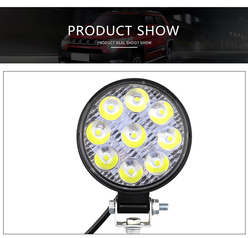DXZ Round shape Led Work Light Bar 27W Driving Pods Spot Beam Work Lamp for Off-Road Suv Boat 4X4 Jeep JK 4Wd Truck 12V-24V