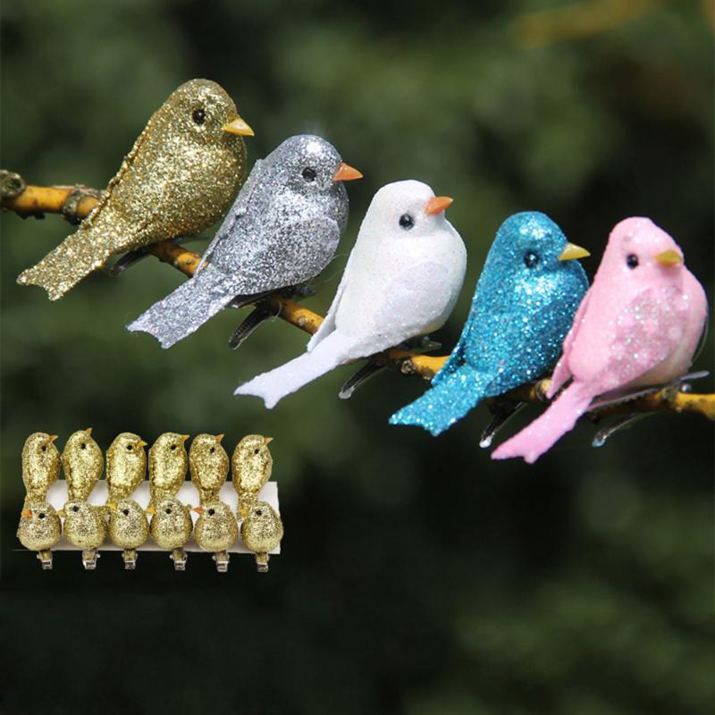 Artificial Hummingbird Vividly Sparrow Garden Smulation Home Outdoor Ornament