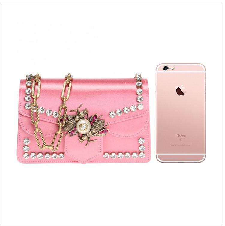 [Package tax]   Broadway series ladies shoulder chain bag pink pink