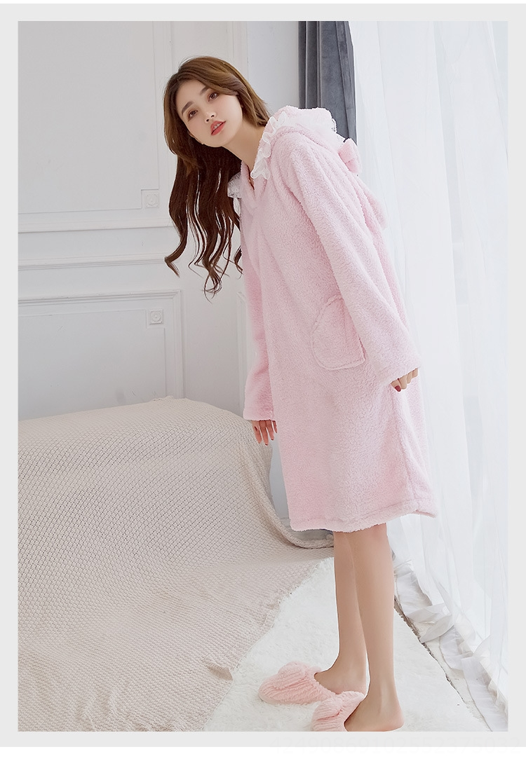 High Quality Thick Flannel Pajamas for Women Winter Home